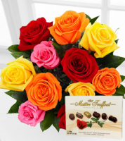 VALENTINE'S DAY MIXED ROSES & CHOCOLATES