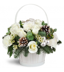 Silver Kisses Basket