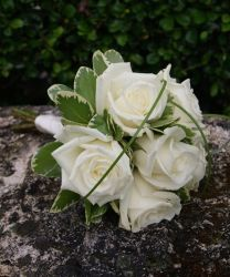 White Roses Prom Bouquet