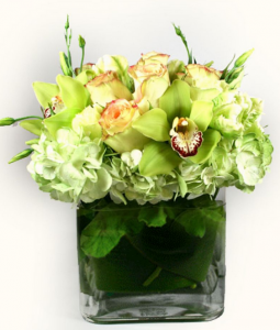 Cymbidium Orchids And Hydrangeas Arrangement