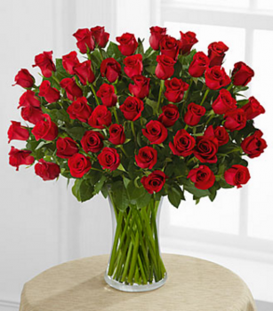 Fifty Red Roses Arranged