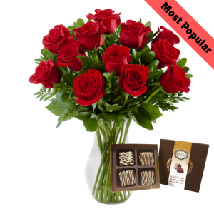 Classic Valentine's Dozen With Chocolates