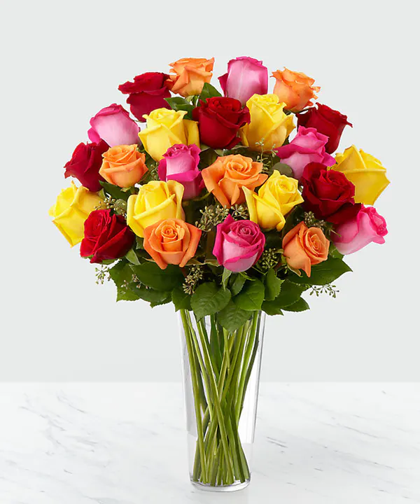 Coloured Long Stem Roses