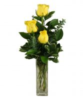 YELLOW ROSE BUDVASE