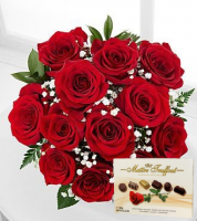 Valentine's Day Red Roses & Chocolates