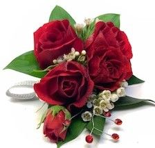 Stunning Red Roses Corsage