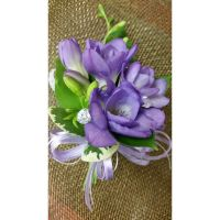 Purple Freesia Corsage