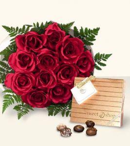 Valentine S Day Roses Chocolates Karen S Flower Shop